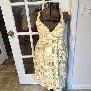 a.n.a Dresses - Ana yellow cotton eyelet sundress size 10